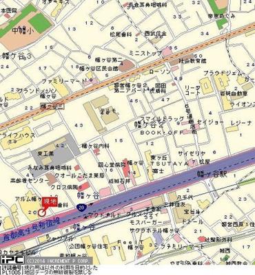 【地図】フェニックス幡ケ谷壱番館