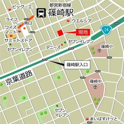 【地図】ノルデランテ篠崎