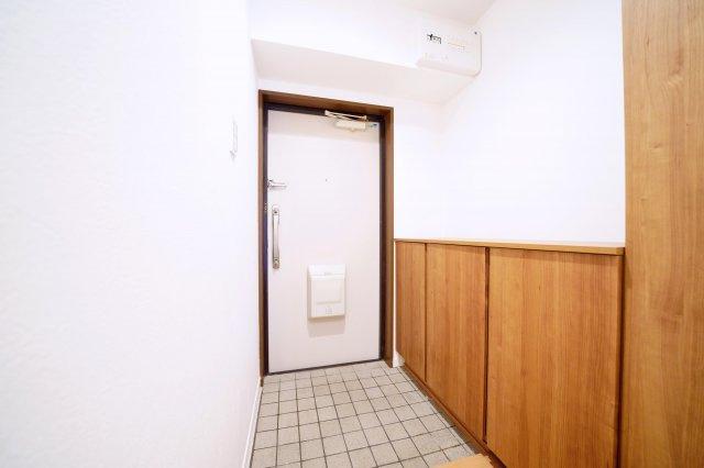 下駄箱付きの玄関です。
