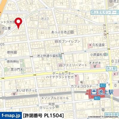 【地図】プレール池上
