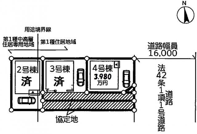 【区画図】松戸市新松戸北第4 全3棟