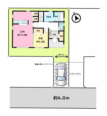 【区画図】立川市砂川町2丁目 新築戸建 全1棟