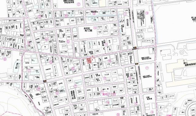【地図】美和2丁目 収益ビル