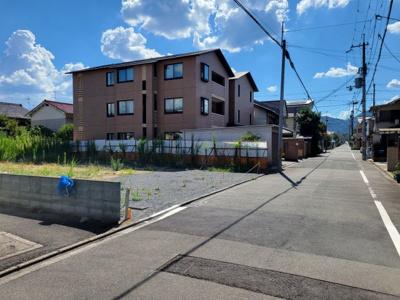 【前面道路含む現地写真】北区小山北玄以町 建築条件無し 売土地
