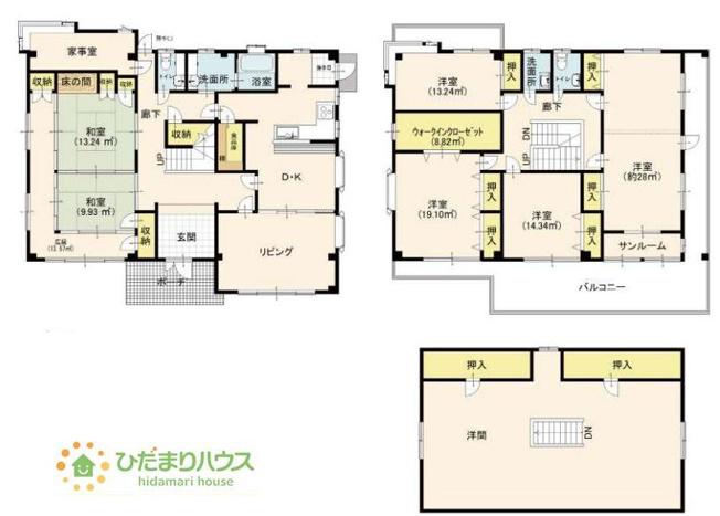 広々7SLDKの間取りは、家族が増えても住み続けられるお家です♪