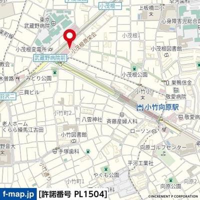 【地図】スカイコート板橋参番館