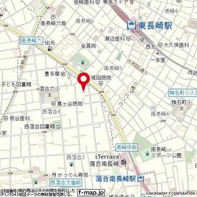 【地図】ウィンズ・パレ西落合