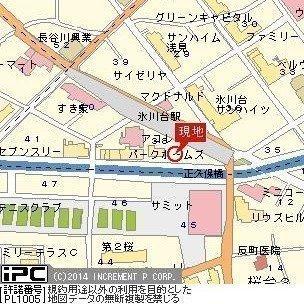 【地図】ラ・リーヴ氷川台