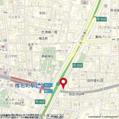 【地図】VALESIA椎名町駅前CITY