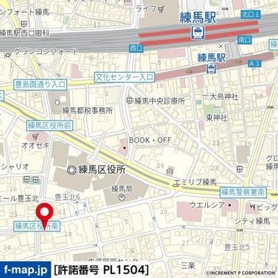 【地図】レアシス練馬