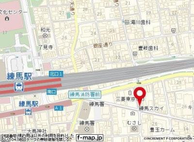 【地図】ドルメン練馬