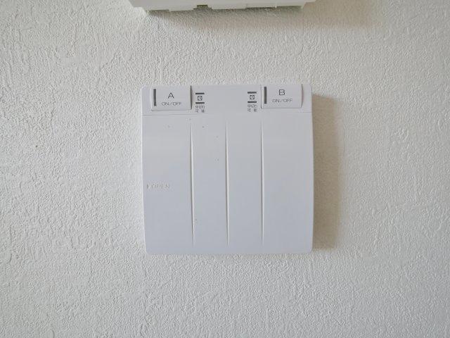 空気を汚さずに足元から暖かい床暖房が標準装備です(1号棟)