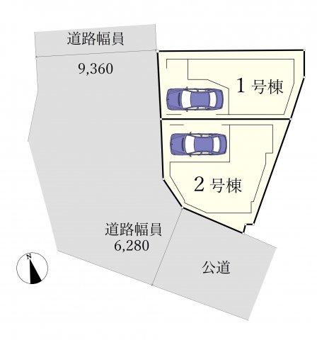 【区画図】川口市川口5丁目 全2棟 1号棟