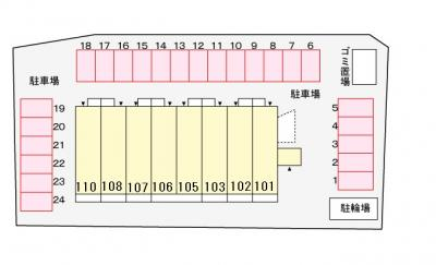 【区画図】ハーベスト下中野