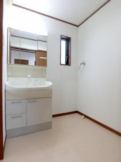 シャワー付き三面鏡洗面化粧台