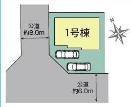 【区画図】牛久市南4丁目4期 新築戸建