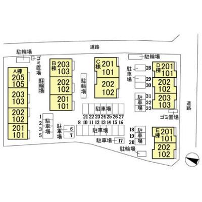 【区画図】フォレステージ D