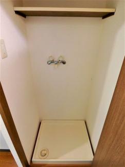 隠れる室内洗濯機置場