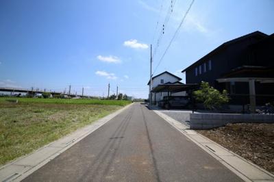 前面公道を含む撮影