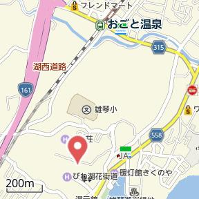 【地図】雄琴① 貸家