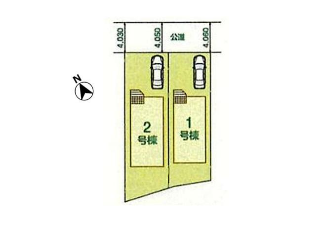 【区画図】東村山市諏訪町 新築戸建 全2棟 2号棟