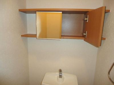トイレ上部・鏡戸棚