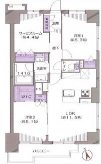 グレイスコート船橋 全居室収納付きの収納豊富なお部屋です!