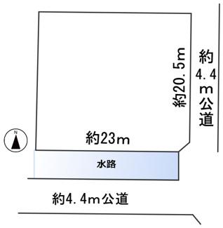 【区画図】56665 本巣市政田土地