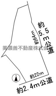 【区画図】57122 海津市南濃町土地