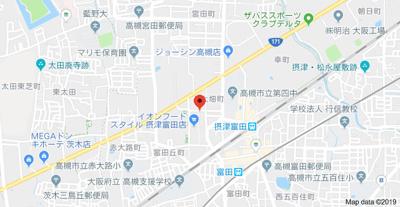【地図】コスモハイツ大畑