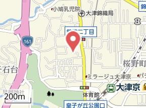 【地図】大津京パークサイド