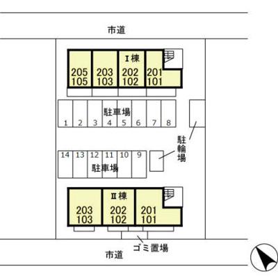 【区画図】エスポワール Ⅰ