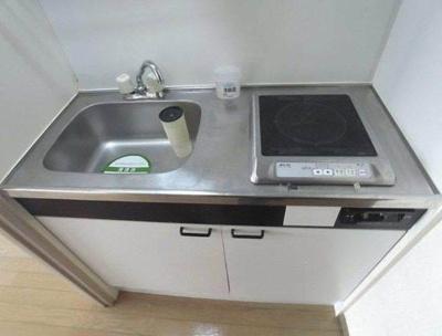1口IHコンロ付きのキッチンです。