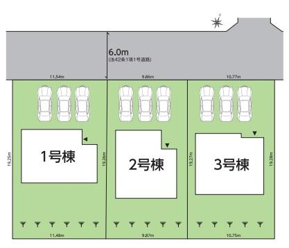 【区画図】グラファーレ泉もえぎ台 全3棟