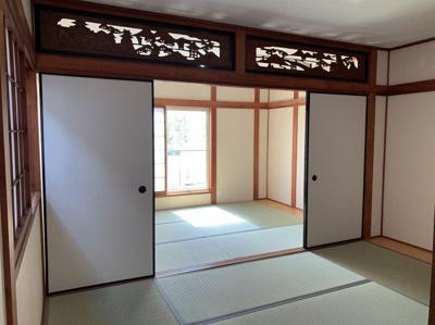 明るい和室です。6帖です。