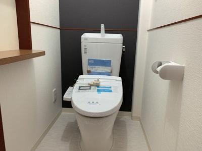 トイレもきれいです。1階と2階で二箇所のトイレがあります。