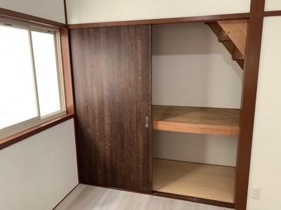 専用の収納スペースです。