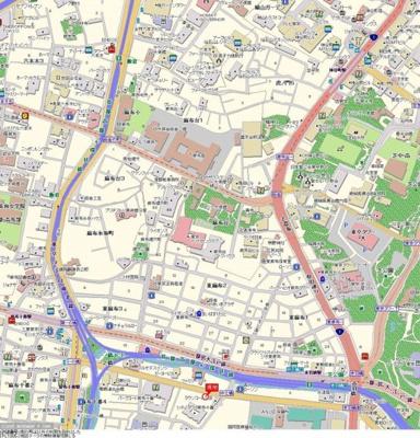 【地図】パークウェル麻布十番
