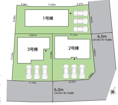 【区画図】グラファーレ泉もえぎ台2期 全3棟