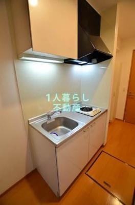 まな板を置けるスペースのあるキッチンです