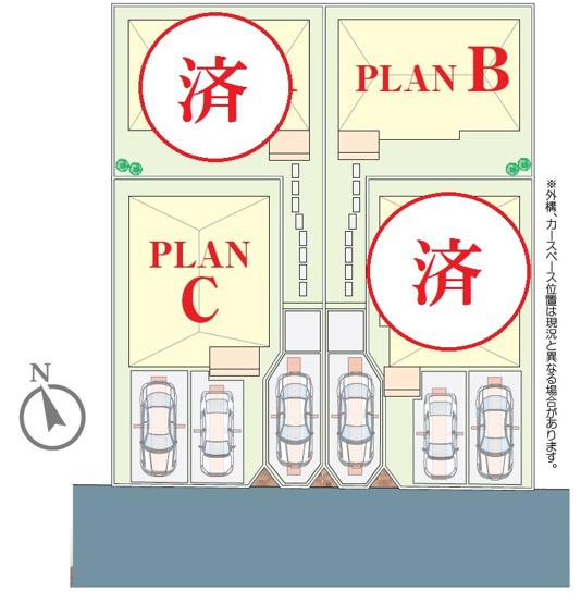 【区画図】松戸市栄町16期 全4棟