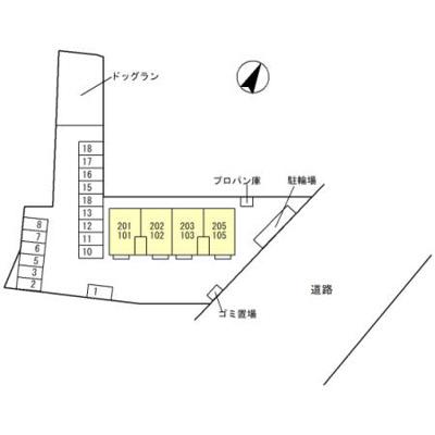 【区画図】D-room平山3丁目