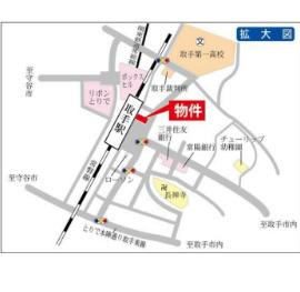 【地図】取手プラザ