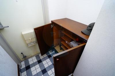うれしいシューズボックス付きで玄関がスッキリしますね