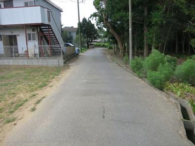 【前面道路含む現地写真】茂原市上林 売地