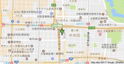 【地図】アーデン堺筋本町