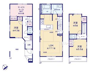 2階LDKは開放的なワンフロアタイプ、上質なデザイナーズ物件