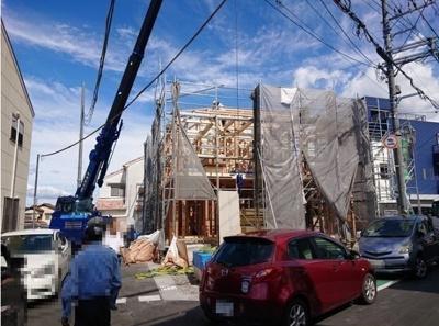 全5棟の新築分譲住宅が誕生致します!竣工に向けて日々頑張っております!北西角地の区画です♪