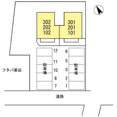 【区画図】メルベーユ前田II