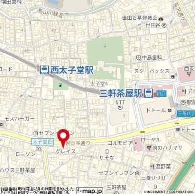 【地図】グレイス三軒茶屋 フルリノベーション 分譲賃貸 浴室乾燥機